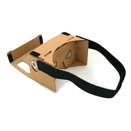 Magic Cardboard Virtual Reality Brille - Inspired by Google Cardboard - Bikonvexe Linsen, Kopfband, Magnete - VR-Brille fuer Smartphone - 1